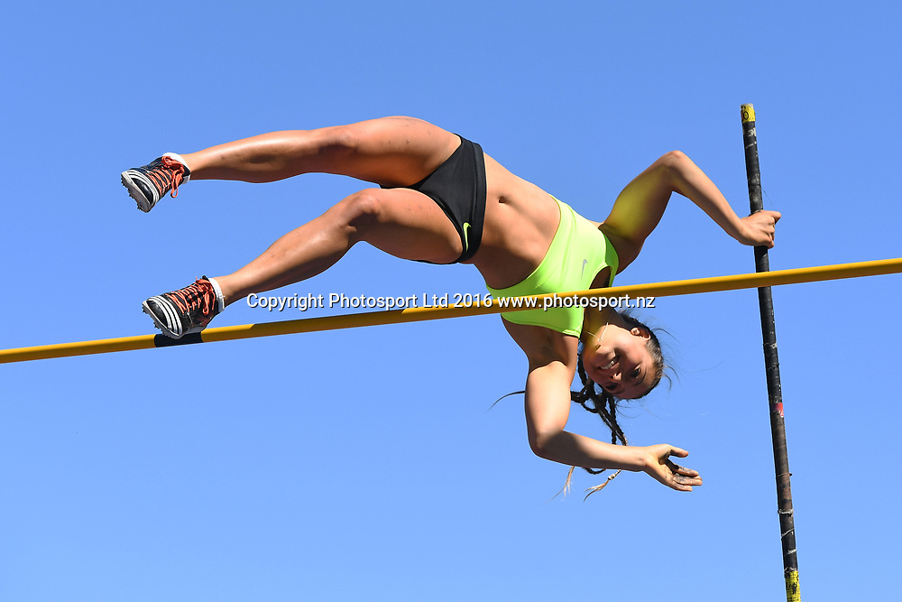 Alana Doust during the Womens Pole Vault at the 2017 Jennian Homes NZ Track and Field Champs at Porritt Stadium, Hamilton, New Zealand on the 19th March 2017. Copyright photo: Jeremy Ward / www.photosport.nz