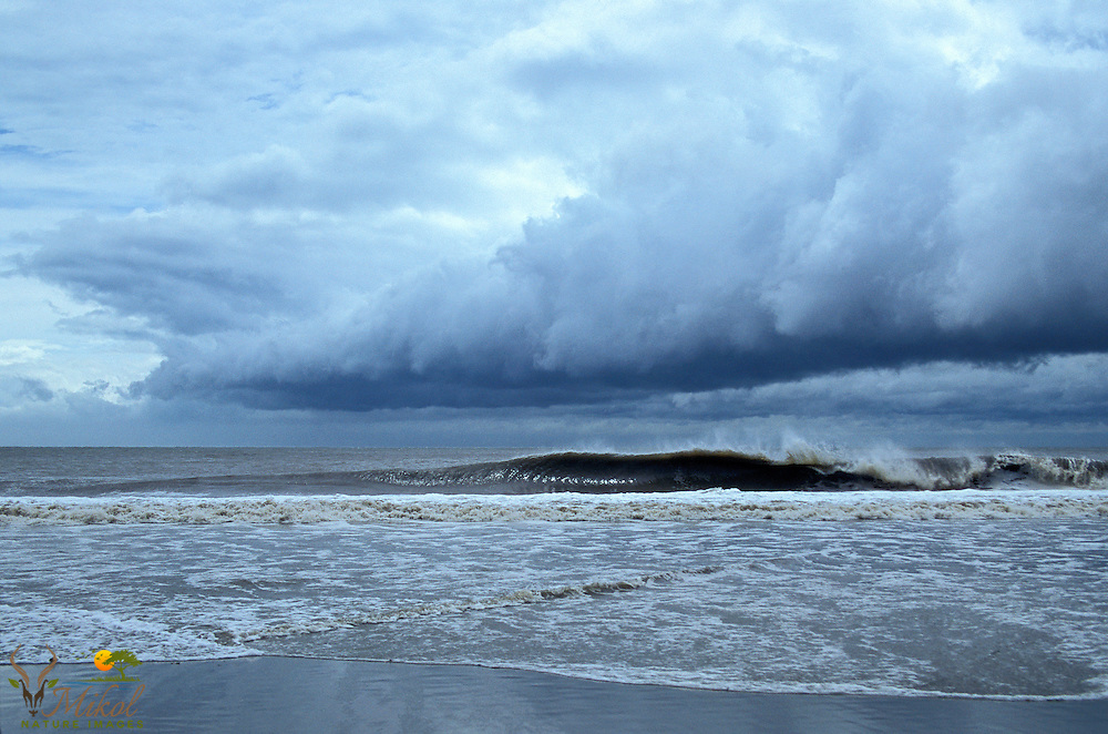 Dark Storm clouds and waves from Hurricane Charley