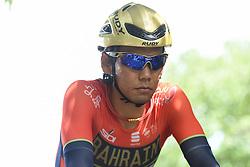 May 20, 2018 - Sakai, Osaka, Japan - Japanese rider Yukiya Arashiro from team Bahrain - Merida, during a warm up ahead of the opening stage, 2.6km Individual Time Trial in Daisen Park, Sakai..On Sunday, May 20, 2018, in Sakai,  Osaka Prefecture, Japan. (Credit Image: © Artur Widak/NurPhoto via ZUMA Press)