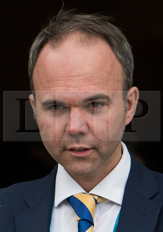 © Licensed to London News Pictures. 04/10/2017. Manchester, UK. GAVIN BARWELL, chief of staff to Theresa May seen on the final day of the Conservative Party Conference. The four day event is expected to focus heavily on Brexit, with the British prime minister hoping to dampen rumours of a leadership challenge. Photo credit: Ben Cawthra/LNP