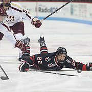 NCAA Men's Hockey: Northeastern University Huskies vs. Boston College Eagles at Matthews Arena on November 2, 2013 in Boston, MA.