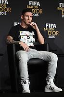Zurich (Svizzera) 11/01/2016 - Fifa Ballon d'Or 2015 Pallone d'Oro / foto Matteo Gribaudi/Image Sport/Insidefoto<br /> nella foto: Lionel Messi