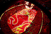 The C of Red prior to puck drop between the Calgary Flames andthe Vancouver Canucks in round 1 game 6 of the Stanley Cup Playoffs at Scotiabank Saddledome on April 25, 2015 in Calgary, Alberta, Canada. (Photo by Jenn Pierce/NHLI via Getty Images)