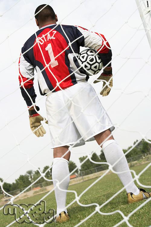 Soccer Goalie Ready for the Game