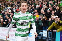 07/02/15 WILLIAM HILL SCOTTISH CUP 5TH RND<br /> DUNDEE v CELTIC<br /> DENS PARK - DUNDEE<br /> Celtic's Stefan Johansen celebrates after doubling his side's lead