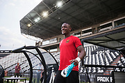 THESSALONIKI, GREECE - AUGUST 16: Alhaji Gero of Oestersunds FK during training ahead of the UEFA Europa League Qualifying Play-Offs round first leg match between PAOK Saloniki and &Ouml;stersunds FK at Toumba Stadium on August 16, 2017 in Thessaloniki, Greece. Foto: Nils Petter Nilsson/Ombrello<br /> ***BETALBILD***