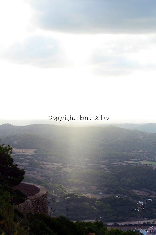 View at sunset from Mount Toro (Monte Toro), Menorca