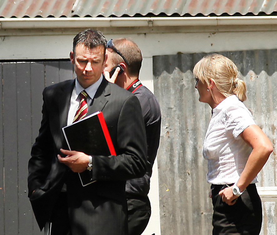 Detective Senior Sergeant Tony Hill at a Linwood house where police are conducting a forensic examination, the latest phase in the enquiry for missing teenager Hayden Miles,Christchurch, New Zealand, Wednesday, Friday, December 02, 2011. Credit:SNPA / Pam Johnson