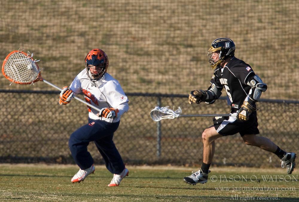 Virginia Cavaliers G Adam Ghitelman (8) in action against Bryant. The #1 ranked Virginia Cavaliers faced the Bryant Bulldogs at the University of Virginia's Klockner Stadium in Charlottesville, VA on February 16, 2009.