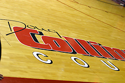 03 February 2007: Doug Collins Court Appliqu?. In what is locally referred to as the War on Seventy Four, the Bradley Braves defeated the Illinois State University Redbirds 70-62 on Doug Collins Court inside Redbird Arena in Normal Illinois.