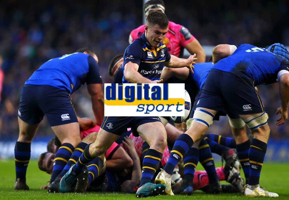 Rugby Union - 2017 / 2018 European Rugby Champions Cup - Pool Three: Leinster vs. Exeter Chiefs<br /> <br /> Leinster's Luke McGrath in action, at Aviva Stadium, Dublin.<br /> <br /> COLORSPORT/KEN SUTTON
