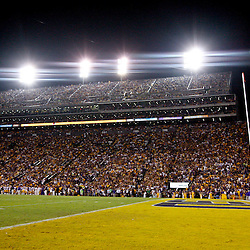 November 3, 2012; Baton Rouge, LA, USA;  A general view during a game between the LSU Tigers and the Alabama Crimson Tide at Tiger Stadium. Alabama defeated LSU 21-17. Mandatory Credit: Derick E. Hingle-US PRESSWIRE