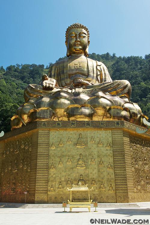 Giant golden Buddha near Puli, Taiwan.