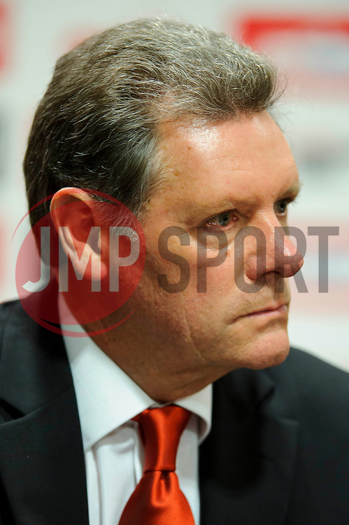 Bristol City Director Doug Harman faces questions from fans during the clubs Annual Supporters Meeting held in the AMC Communications Lounge - Photo mandatory by-line: Rogan Thomson/JMP - Tel: Mobile: 07966 386802 06/12/2012 - SPORT - FOOTBALL - Ashton Gate - Bristol - Club AGM.