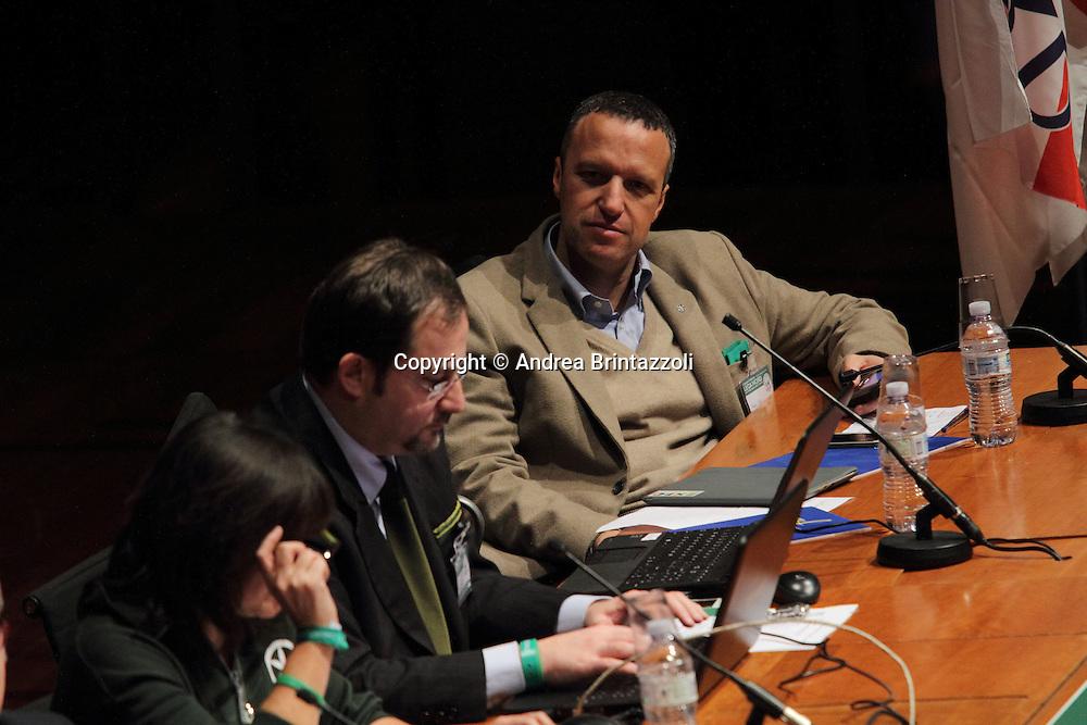 Torino 15 Dicembre 2013. Lingotto Fiere Congresso Federale Lega Nord Padania.<br /> Flavio Tosi