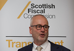 John Ireland, CEO of the Scottish Fiscal Commission, at a briefing on its economic and fiscal forecasts, Macdonald Hotel, Edinburgh. pic copyright Terry Murden @edinburghelitemedia