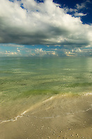 Portrait of the beach on Sanibel Island.