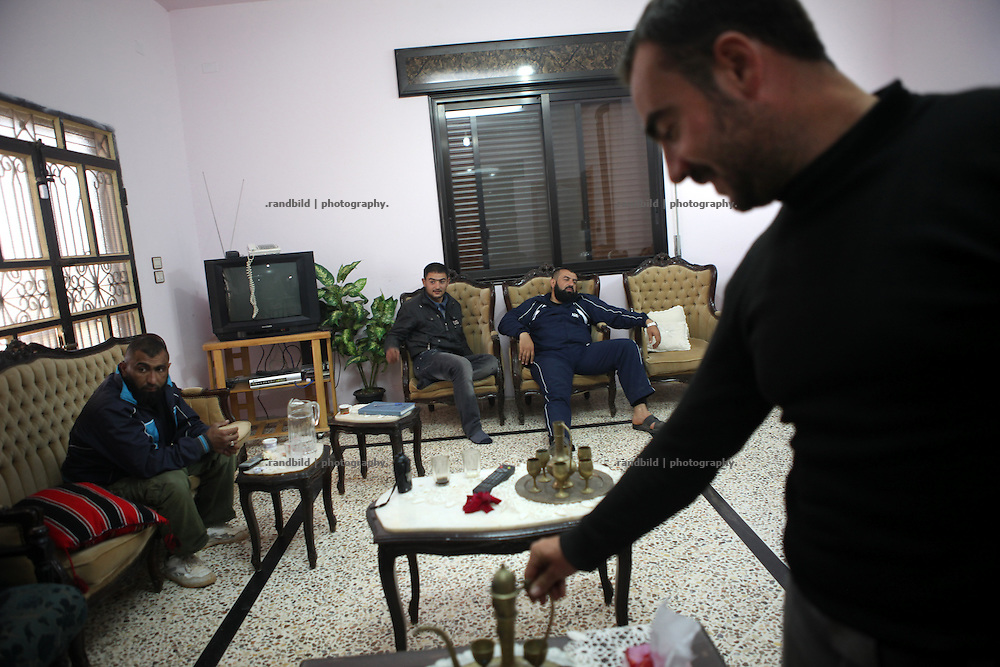 Revolutionaries on Standby. FSA rebels wait in a comfortable safehouse near Idlib during the UN-broked ceasefire.