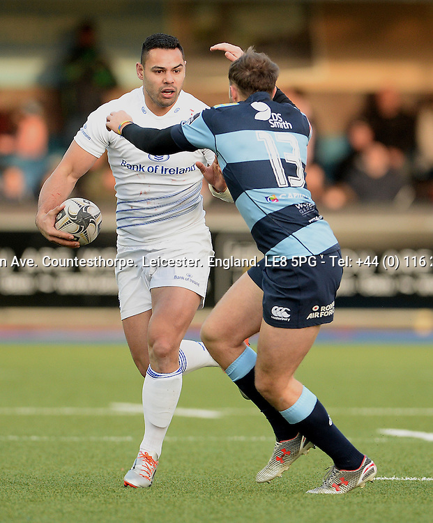 Guinness PRO12, BT Sport Cardiff Arms Park, Wales 10/1/2015<br /> Cardiff Blues vs Leinster <br /> Leinster's Ben Te'o takes on Cardiff Blues' Cory Allen<br /> Mandatory Credit &copy;INPHO/Ian Cook
