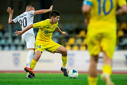 Stefan Stevanovic of Tabor Sezana vs Ivan Makovec of Domzale during football match between NK Domzale and NK CB24 Tabor Sezana in 31st Round of Prva liga Telekom Slovenije 2019/20, on July 3, 2020 in Sports park, Domzale, Slovenia. Photo by Vid Ponikvar / Sportida