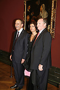 Curator Dawson Cair.  Spanish Ambassador and his wife. Velasquez private view, Sainsbury Wing, National Gallery,16 October 2006. DO NOT ARCHIVE-© Copyright Photograph by Dafydd Jones 66 Stockwell Park Rd. London SW9 0DA Tel 020 7733 0108 www.dafjones.com