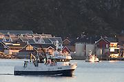 The fishingboat Starbeam outside Fosnavåg harbor | Fiskebåten Starbeam utenfor Fosnavåg havn.