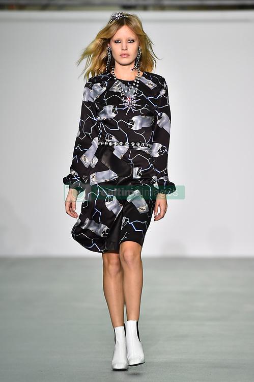 Georgia May Jagger on the catwalk during the Ashley Williams Autumn/ Winter 2016 London Fashion Week show, held at the BFC venue in Soho, London