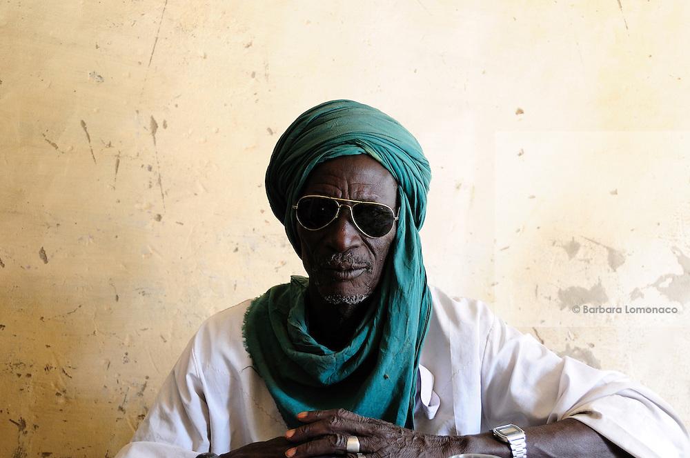 "Mahamman Jinny, the ""griot"", story teller of Timbuktu, Tombouctou."