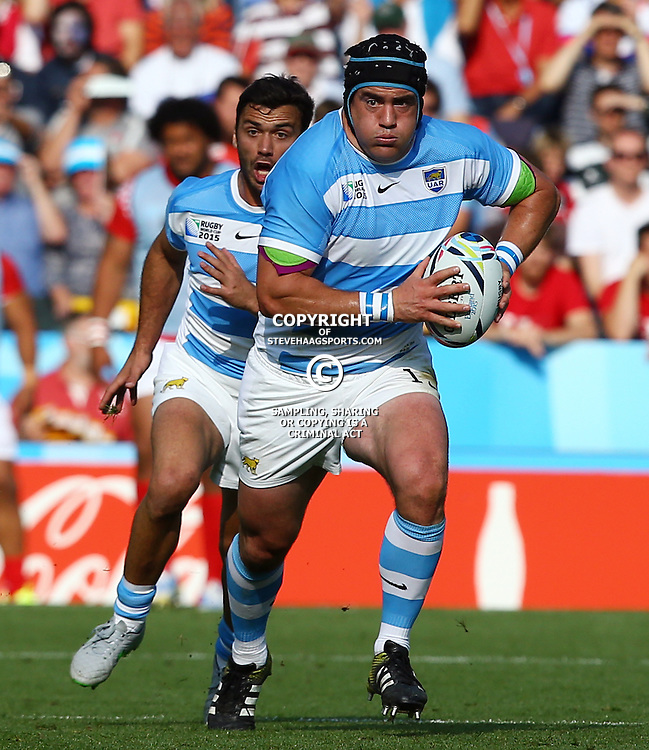 LEICESTER, ENGLAND - OCTOBER 04: Marcos Ayerza of Argentina during the Rugby World Cup 2015 Pool C match between Argentina and Tonga at Leicester City Stadium on October 04, 2015 in Leicester, England. (Photo by Steve Haag/Gallo Images)