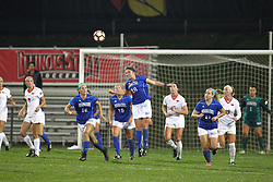 04 November 2016:  Maddie Orf(20) during an NCAA Missouri Valley Conference (MVC) Championship series women's semi-final soccer game between the Indiana State Sycamores and the Illinois State Redbirds on Adelaide Street Field in Normal IL