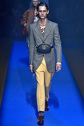 Model Ilja Van Vuuren walks on the runway during the Gucci Fashion Show during Milan Fashion Week Spring Summer 2018 held in Milan, Italy on September 20, 2017. (Photo by Jonas Gustavsson/Sipa USA)