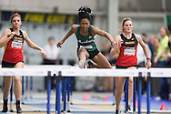 Windsor, Ontario ---2015-03-12---Astrid Nyame of Saskatchewan competes in the pentathlon hurdles  at the 2015 CIS Track and Field Championships in Windsor, Ontario, March 12, 2015.<br /> GEOFF ROBINS/ Mundo Sport Images
