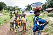 Kids in the Kamanso Village in the Koinadugu District (July 19, 2016).<br /> <br /> This Community is supported by Oxfam GB and Projects are funded by the European Commission. <br /> <br /> Improving the health status of Koinadugu District through equitable water, sanitation and hygiene service delivery: The overall objective of the project is to contribute to the achievement of MDGs 4 and 7, improving health in Sierra Leone. The main problem is to be addressed by this action is the poor health status of the citizens and the link between improved health and increased access to WASH services. The causes of under 5 mortality are related to malnutrition and lack of access to adequate primary health care and infrastructure such as water and sanitation. Small sale delivery of water sanitation infrastructure and hygiene promotion services in order to identify cost-effective approaches and increase access to improved water and sanitation facilities, as well as key hygiene behaviors are among the main approaches. Also the importance of increasing the voice and influence of the communities, but in particular women, in the development planning process for WASH services.