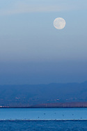 Moonrise over the San Francisco Bay