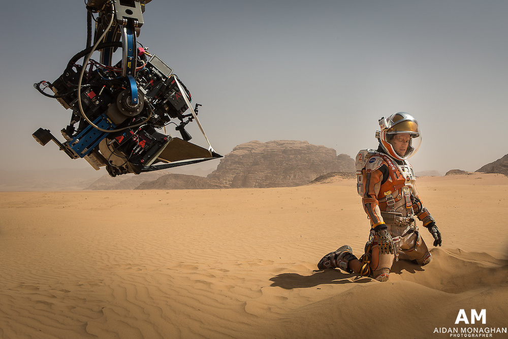 The Martian Matt Damon Behind the Scenes