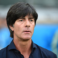 Joachim Low, head coach of Germany during the 2014 FIFA World Cup match at Mineir&atilde;o, Belo Horizonte<br /> Picture by Stefano Gnech/Focus Images Ltd +39 333 1641678<br /> 08/07/2014