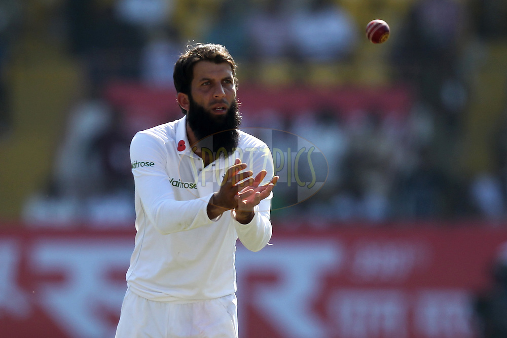 Moeen Ali of England during day 3 of the first test match between India and England held at the Saurashtra Cricket Association Stadium , Rajkot on the 11th November 2016.Photo by: Prashant Bhoot/ BCCI/ SPORTZPICS