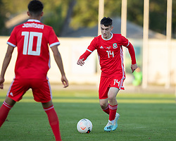 ORHEI, MOLDOVA - Friday, October 11, 2019: Wales' Dylan Levitt during the UEFA Under-21 Championship Italy 2019 Qualifying Group 9 match between Moldova and Wales at the Orhei District Sports Complex. (Pic by Kunjan Malde/Propaganda)
