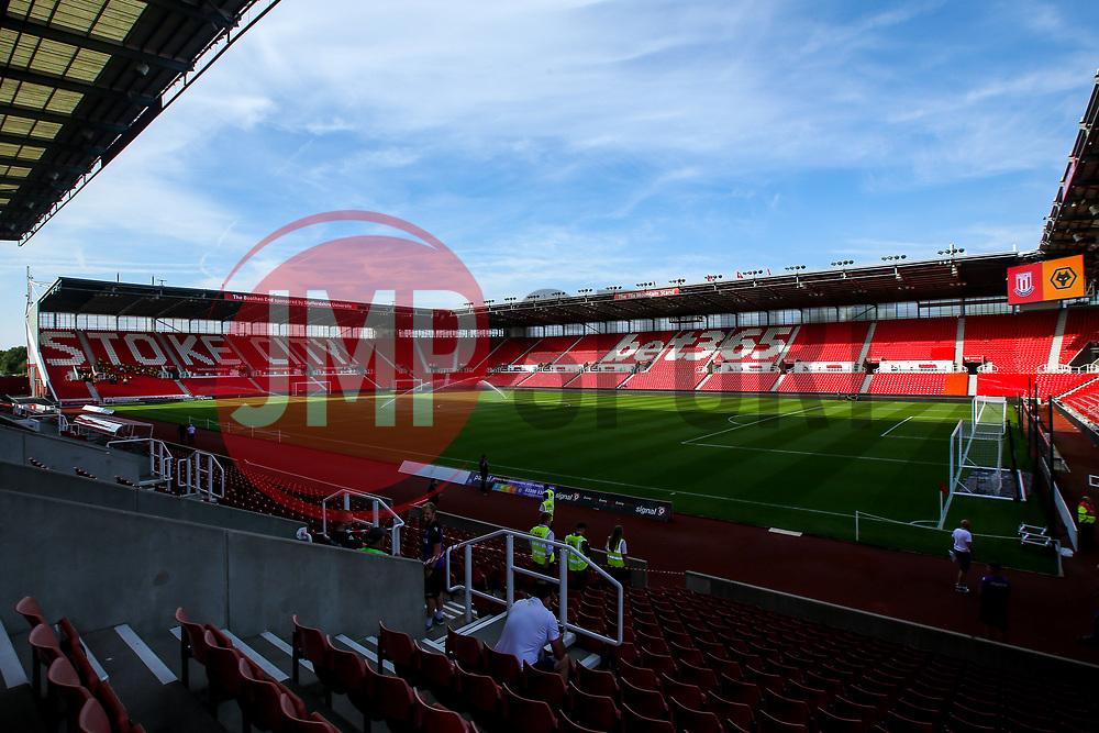 A general view of The Bet365 Stadium, home of Stoke City - Mandatory by-line: Robbie Stephenson/JMP - 25/07/2018 - FOOTBALL - Bet365 Stadium - Stoke-on-Trent, England - Stoke City v Wolverhampton Wanderers - Pre-season friendly