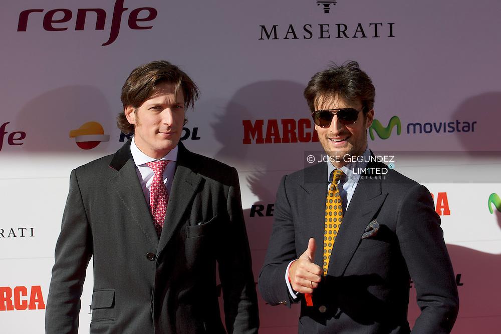 Rafael Medina and Luis Medina arrive at the Marca 75th anniversary at Callao Cinema on November 26, 2013 in Madrid