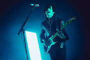 Matthew Healy/The 1975 performing live at the Fox Theater concert venue in Oakland, CA on December 17, 2015