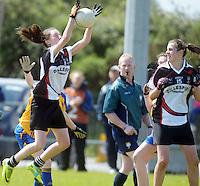 Sligo's Caron Griffin and Denise Regan  in the All ireland U14 C championship final in Kilkerrin-Galway Photo: Andrew Downes..