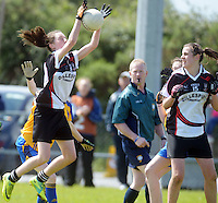 Sligo's Caron Griffin and Denise Regan  in the All ireland U14 C championship final in Kilkerrin-Galway Photo: Andrew Downes..