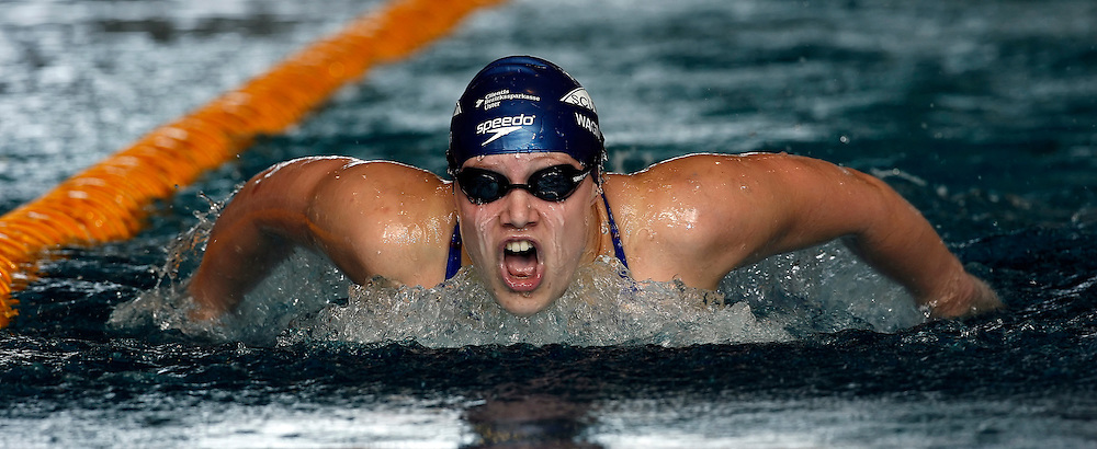 Senata Wagner of Switzerland competes in the women's 200m butterfly heats in the Hallenbad Oerlikon at the Swimming Swiss Championships in Zurich, Switzerland, Friday 11 May 2007. (Photo by Patrick B. Kraemer / MAGICPBK)