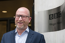 © Licensed to London News Pictures. 30/05/2016. LONDON, UK.  PAUL NUTTALL, UKIP leader arrives at BBC Broadcasting House in London today.  Photo credit: Vickie Flores/LNP