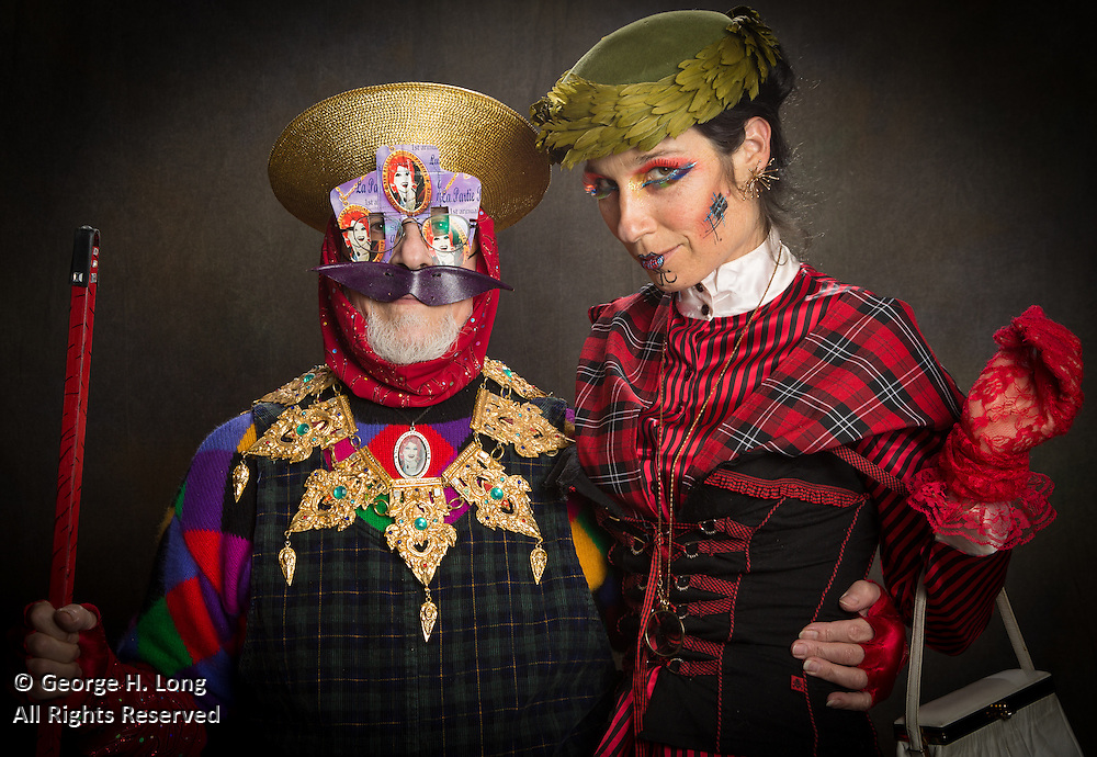 Bruce Henken, aka Victory, and Marcela Lineiro Singleton at the Radical Faeries' St. Brigid Ball; 2015 Carnival in New Orleans