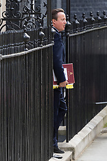2016-07-13 Cameron leaves Downing Street for PMQs on last day in office.