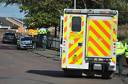 Emergency services attend the scene of an reported explosion in Bonkle, Wishaw, Angie Isac | EEm Thursday 4 October 2017