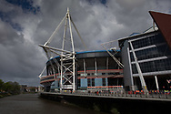 A general view of Principality Stadium<br /> <br /> Photographer Simon King/Replay Images<br /> <br /> Guinness PRO14 Round 21 - Dragons v Scarlets - Saturday 27th April 2019 - Principality Stadium - Cardiff<br /> <br /> World Copyright © Replay Images . All rights reserved. info@replayimages.co.uk - http://replayimages.co.uk