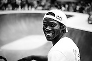 Courage Adams poses for a portrait during Red Bull 3en1 at Skatepark Péitruss, Luxembourg, Luxembourg, June 3, 2017.